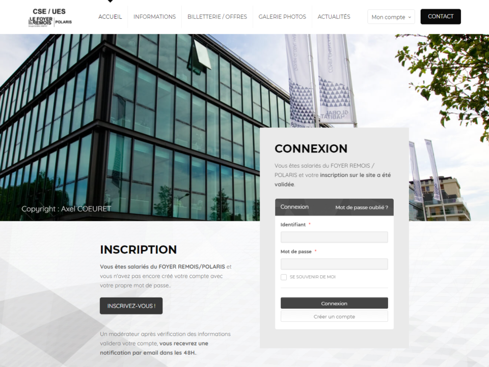 Site CSE Foyer Rémois